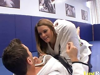 Sexy Megan Fenox Entices Her Grappling Coach