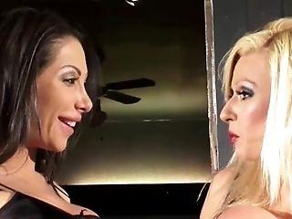Filthy Hot Girly-girl Stunners Munch And Finger Fuck Vag On Bar