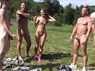 Lovita Fate And Tiffany Tatum In A Gonzo Outdoor 4 Way