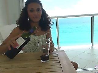 Keira Verga Conversing And Flashing On The Porch