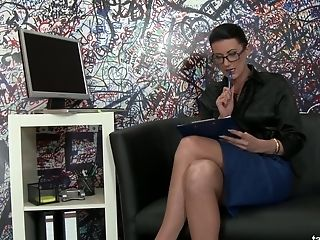 Nerdy Assistant In Glasses Gets Messy And Dirty In The Glory Fuck Hole Room