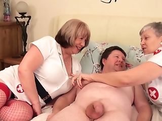 Banging Grannies - Horny Old Bi-otches And Chubby Stud