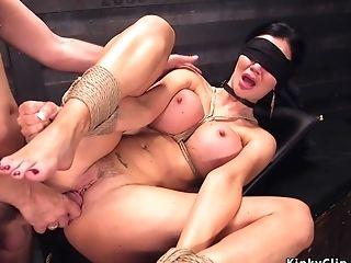 Master Fucks Large-jugged Blinded Mom