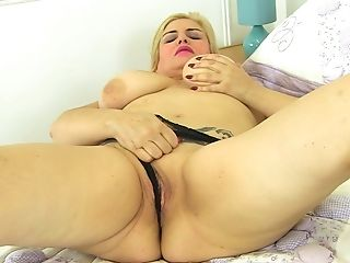 Matures Blonde Buxom Hoe Musa Libertina Licks Her Own Gigantic Tits