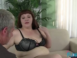 Bbw Cherie With Older Chubby Loving Man Who Just Knows How To Threat Her