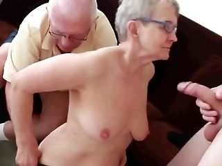Granny & Spouse Invite A Youthful Stud To Fuck Her