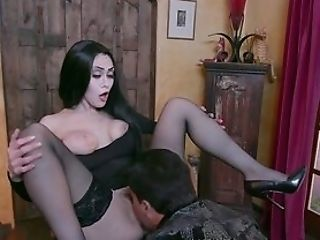 Dark-haired Teenager In Pornography Parody On The Adams Family