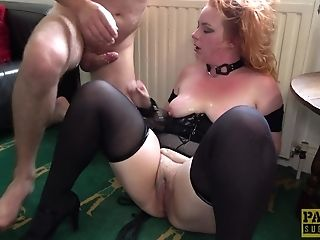 Subjugated Chubby Sandy-haired Sprayed With Jism After Deepthroating