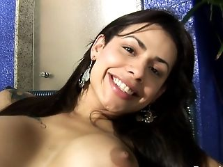 Sexy Teenager Bruna Rodrigues Plays With Her Spear