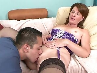 Hot Oral Fucky-fucky And Cunt Draining With Lascivious Linda Roberts