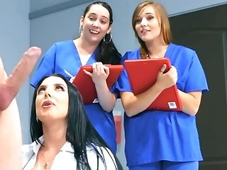 Amazingly Hot Brown-haired Physician Trains Her Nurses A Lesson