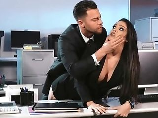 Two Hot Secretaries Are Being Fucked By Their Manager