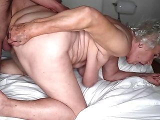 Grey-haired Cunt Of Fat Granny Gets Pounded By Youthful Stud