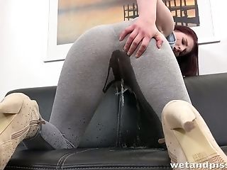 Sizzling Chick Mag Ray Pisses In Her Pants Before A Crazy Fuck Stick Fucking