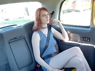 Yankee Red-haired Fucks In Uk Cab