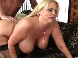 Bald Headed Dude Drills Labia Of Hook-up-appeal Blonde Karen Fisher