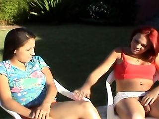 Super-cute Latina Red-haired Tranny Fucking A Biotch