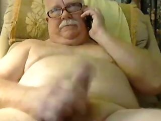 Grand-pa Spunk On Webcam