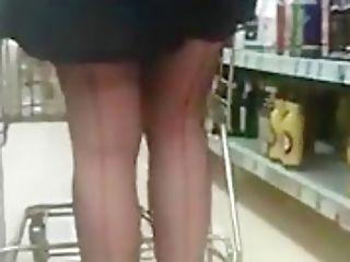 Shopping In Stockings