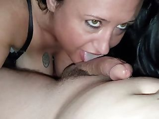 40 Year Old Big-chested Mummy Masturbates Then Gets Dicked